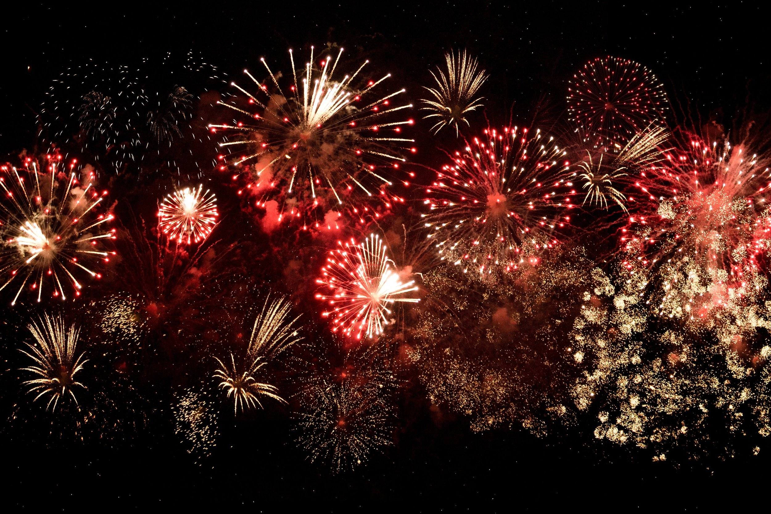 A typical fireworks scene