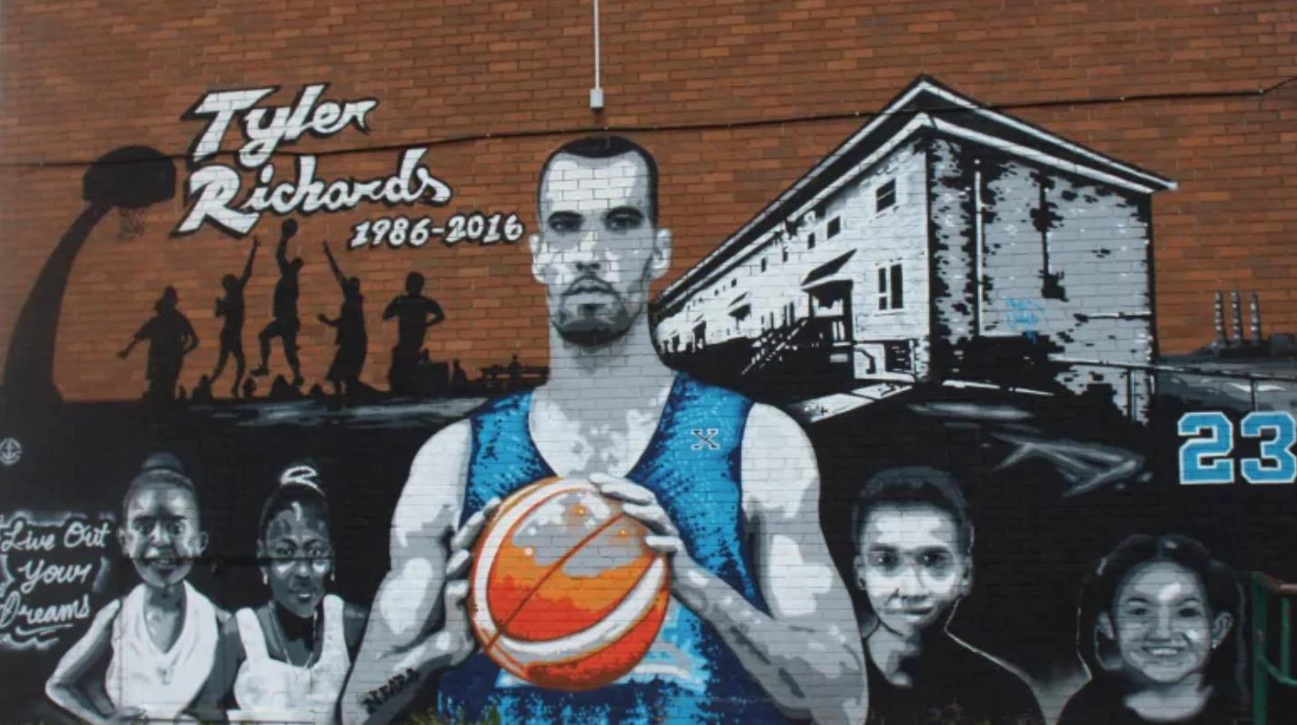 Mural of Tyler Richards