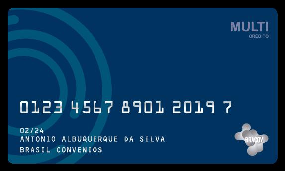 Cartão Multi  com desconto em folha de pagamento e acesso a toda rede Bracov.