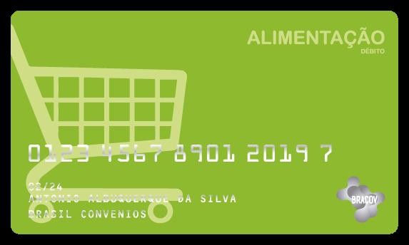 Cartão Alimentação  pré pago pela empresa, de uso exclusivo em supermercados. Pode fazer parte do Programa de Alimentação do Trabalhador (PAT), do Ministério do Trabalho e Emprego.