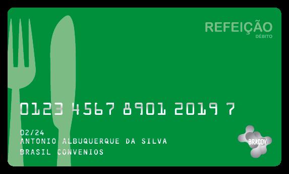 Cartão Refeição  pré pago pela empresa, de uso exclusivo em restaurantes, podendo fazer parte do Programa de Alimentação do Trabalhador (PAT), do Ministério do Trabalho e Emprego.