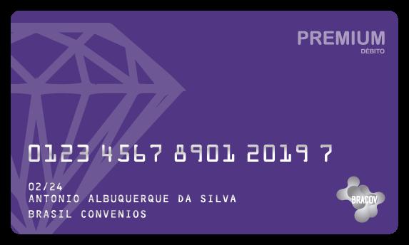 Cartão Premium  do tipo pré pago, destinado a premiações de acordo com programas internos da empresa, pode ser usado em toda a rede Bracov.