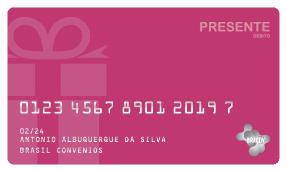 Cartão Presente  pré pago pela empresa, destinado a sazonalidades e datas comemorativas, pode ser usado em toda a rede Bracov.