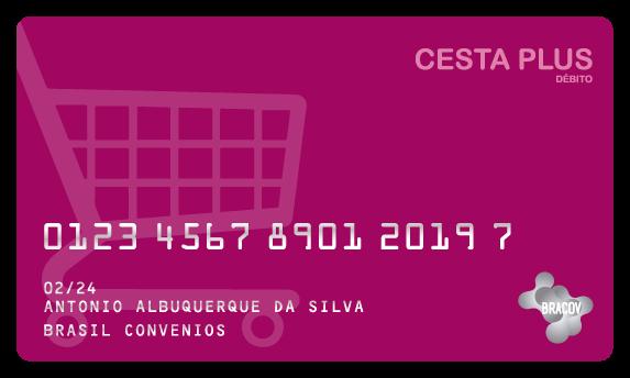 Cartão Cesta Plus  do tipo pré pago, destinado para substituição de cestas básicas, podendo fazer parte do Programa de Alimentação do Trabalhador (PAT) ou de programas de assiduidade