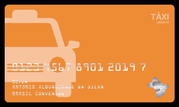 Cartão Táxi  pré pago ou pós pago, destinado a gestão de despesas de táxi.