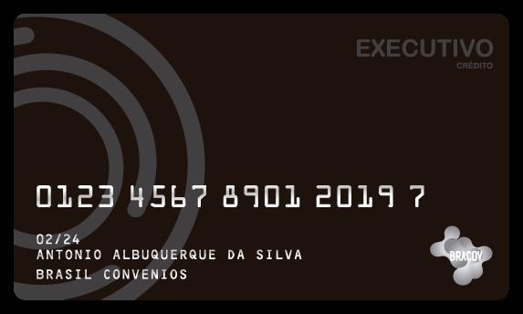 Cartão Executivo  destinado a empresas e aceito em toda a rede Bracov. Normalmente solicitado para a gestão de viagens empresariais, incluindo passagem aérea, hotel, transfer etc.
