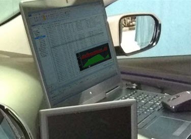 Result analysis and calibration can be performed right in the vehicle during test drives