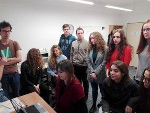 Students in the Evanjelicke Lyceum in Bratislava, Slovakia