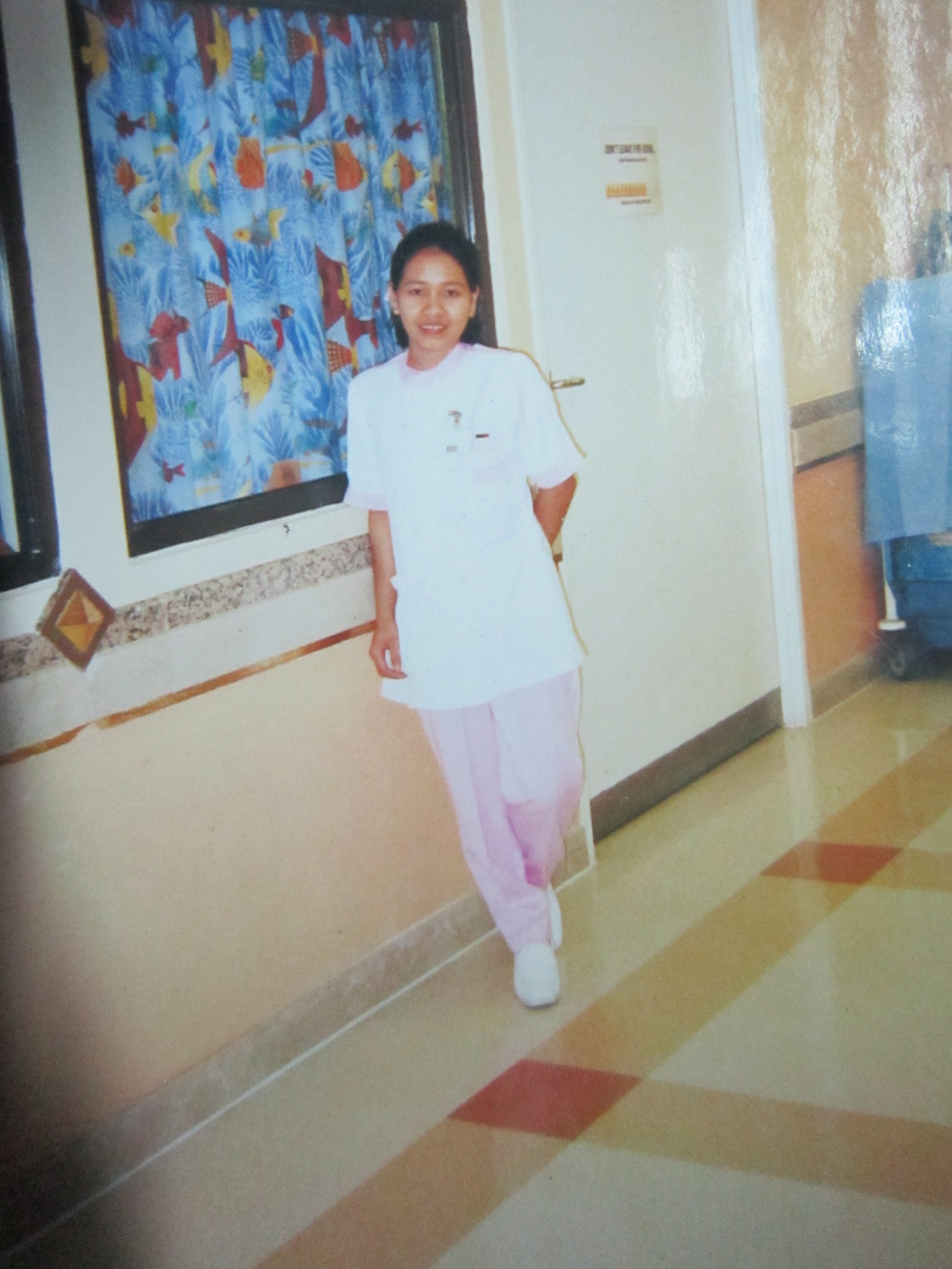 Rosalie as a Young Nurse in Saudi Arabia