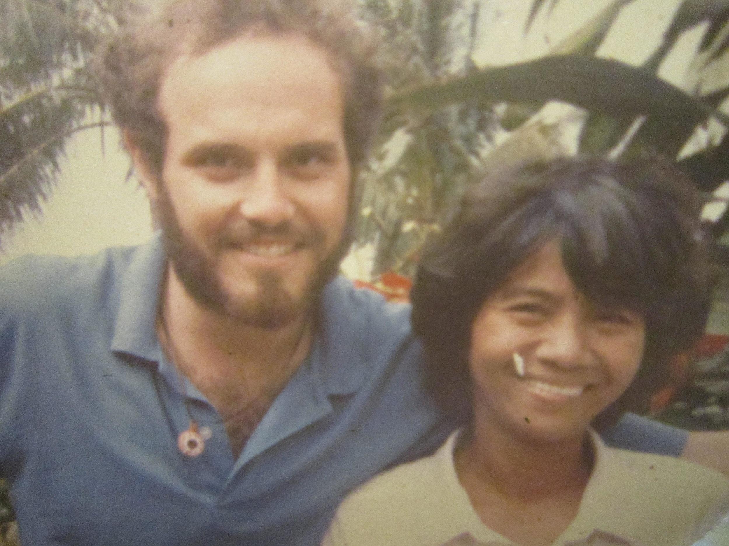 With Tita, 1987
