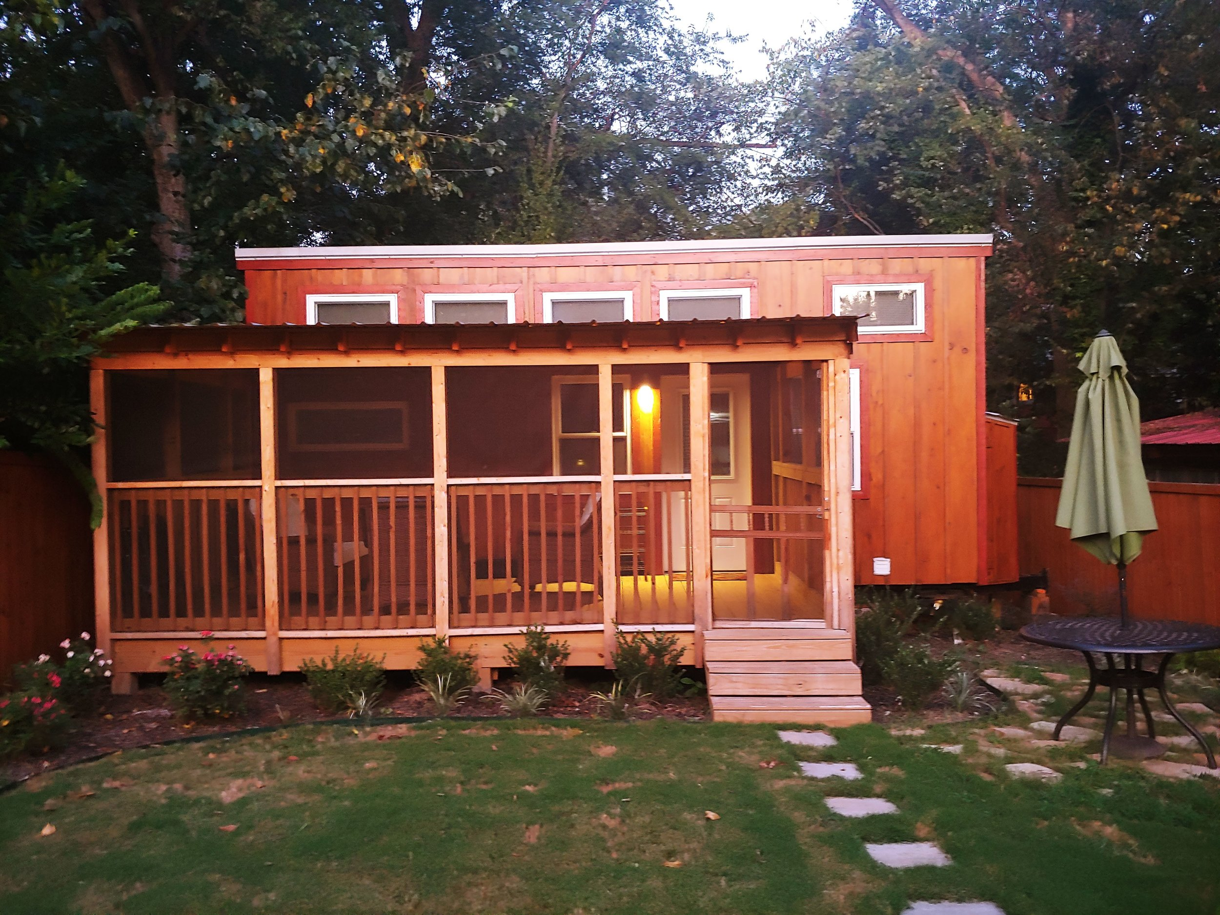 Our  Tiny House  for the night in Cabbagetown, Atlanta