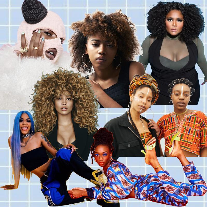 Girl afro black singer with 35 Under