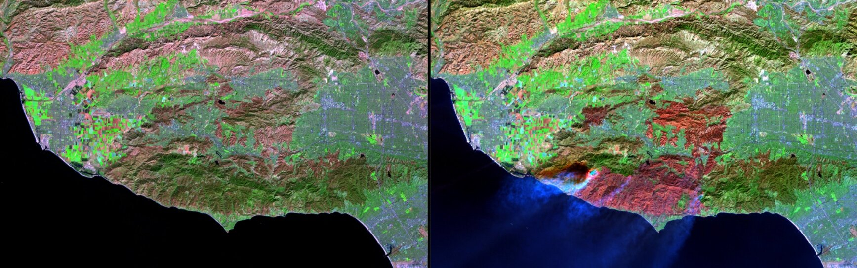 Woolsey Fire, Southern California via  Nasa  Images of Change.