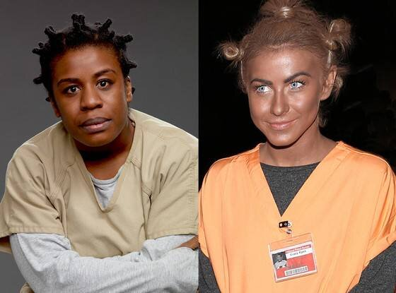 Julianne Hough dressed as Crazy Eyes from  Orange is the New Black , via  E! News.