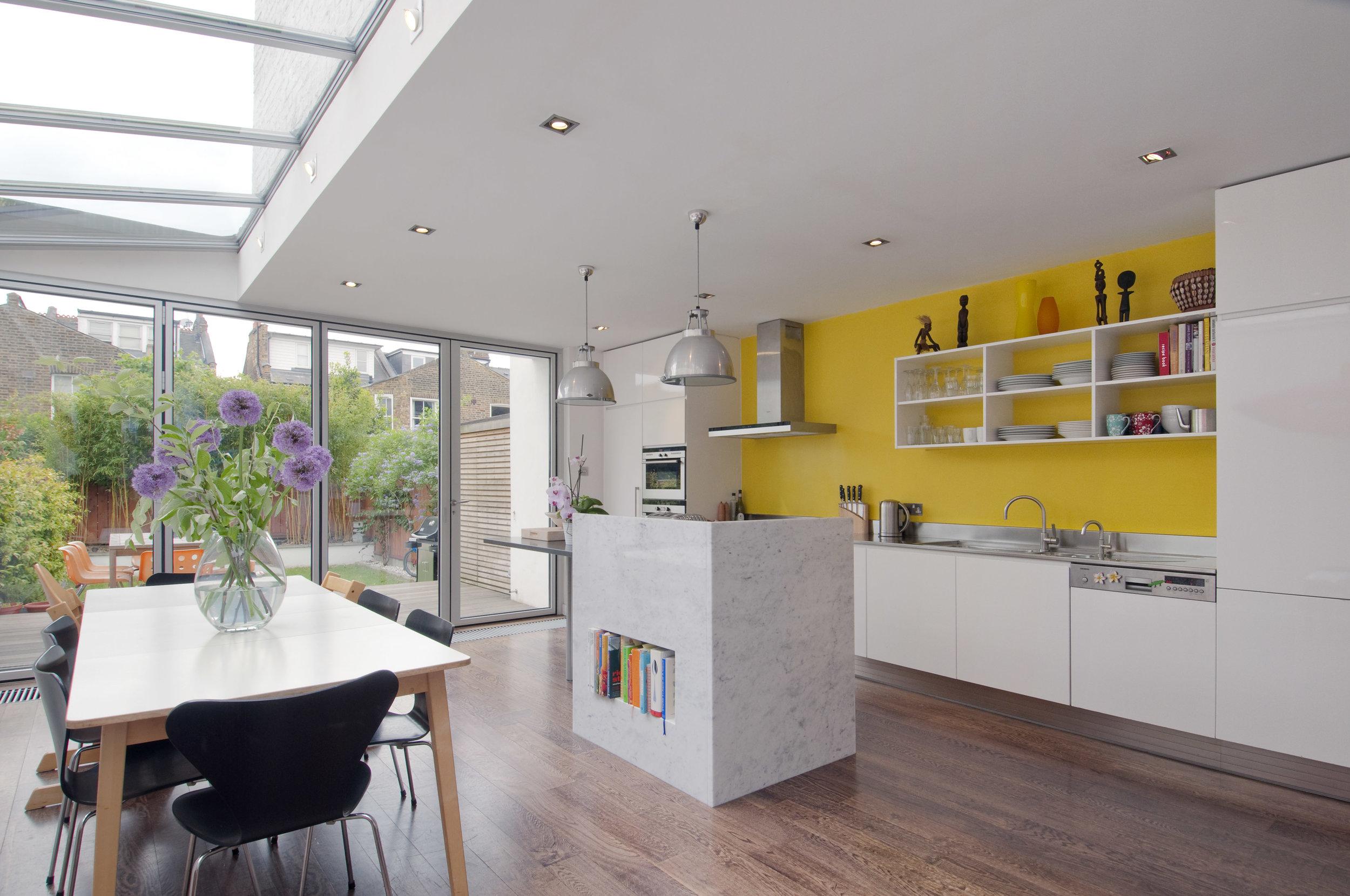 Kensal Rise light filled kitchen