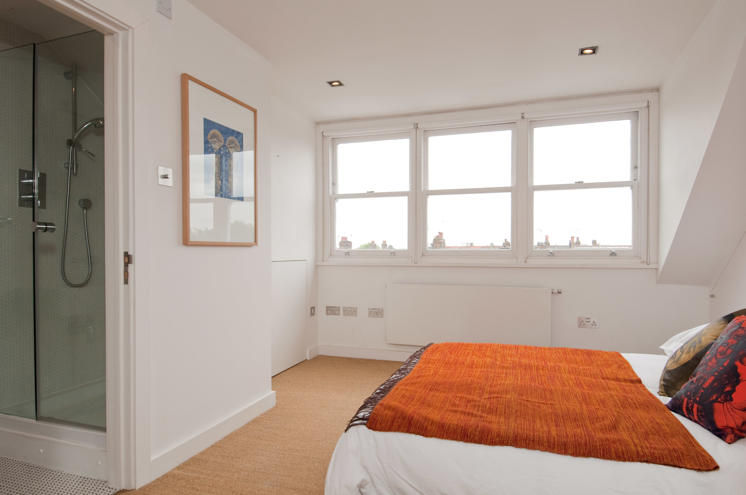 Queens Park loft conversion bedroom