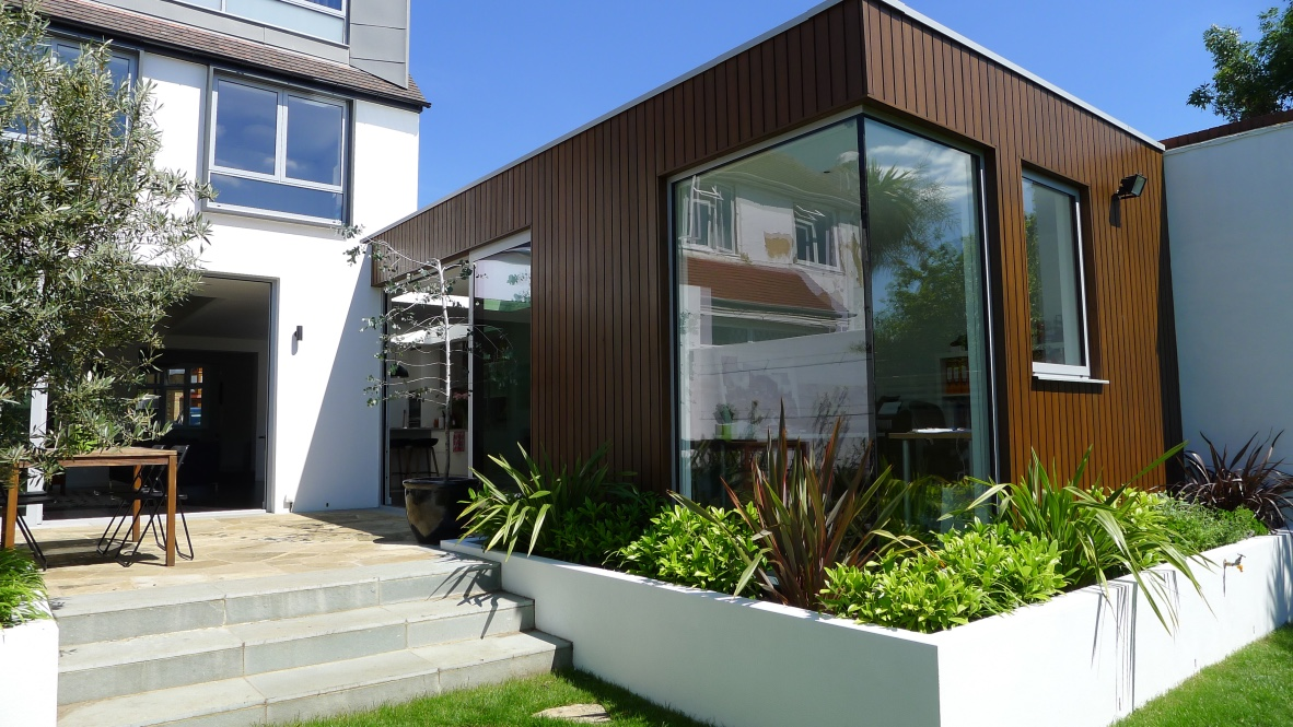 Kensal Rise glass and wood extension
