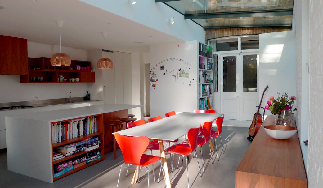 Kew contemporary extension light filled
