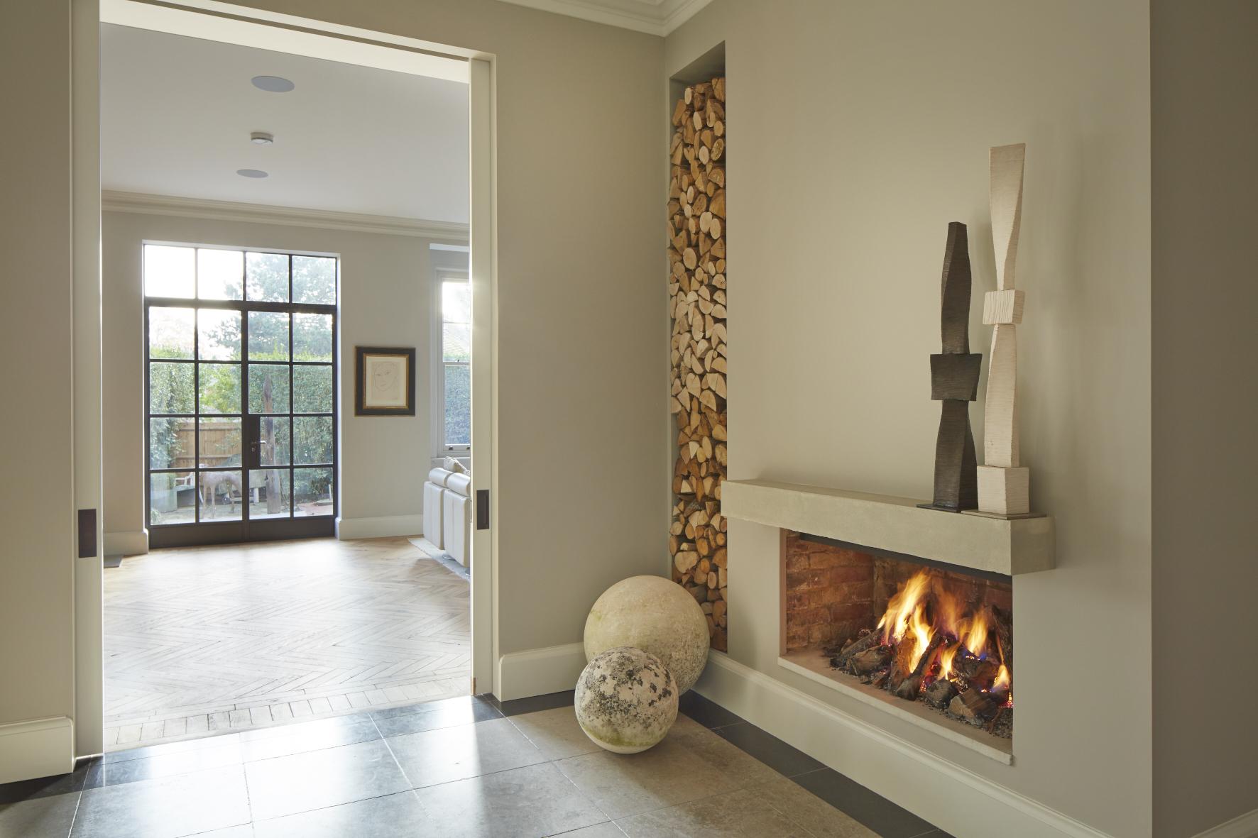 Hampstead interior fireplace