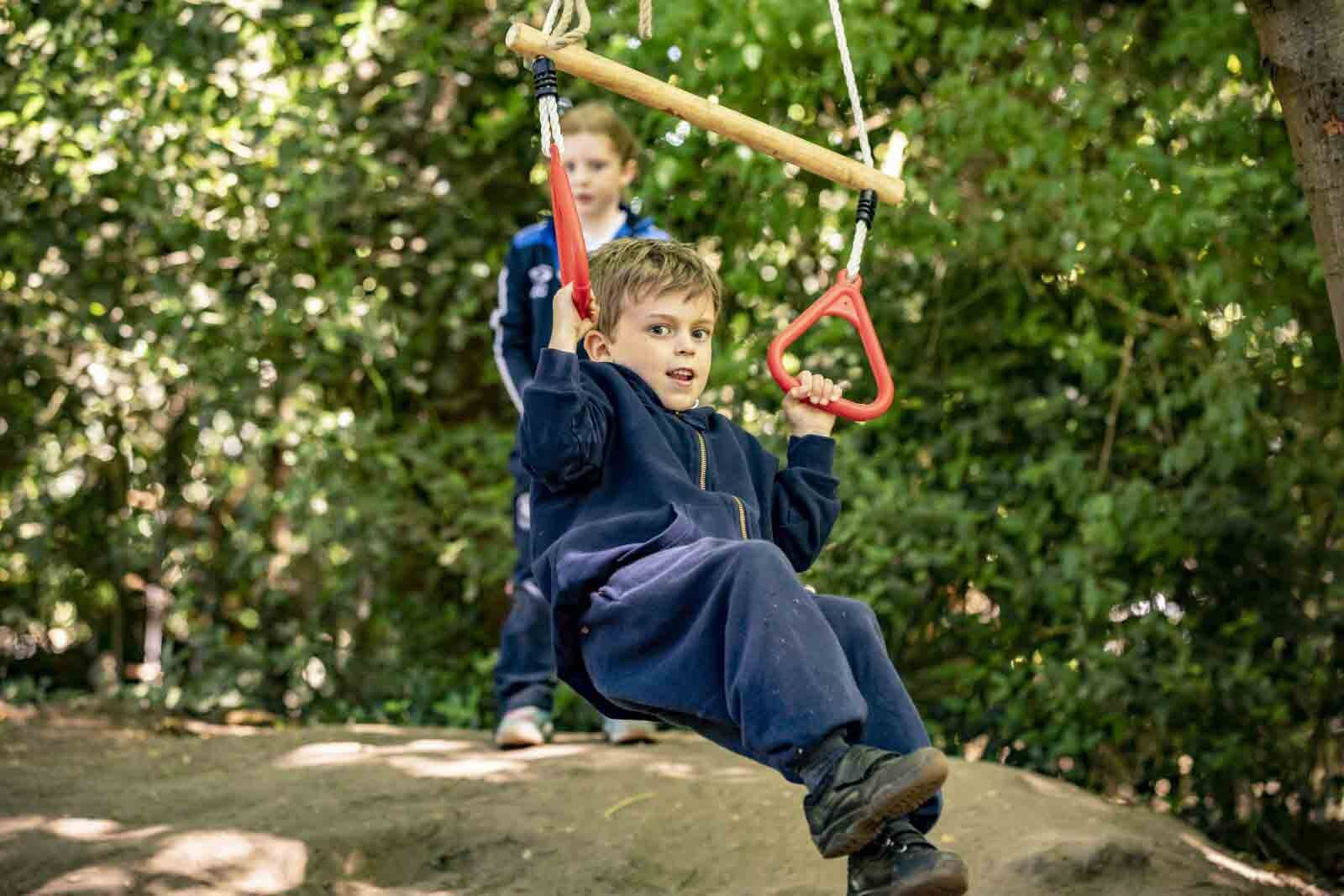 """Charlie, Year 3 - """"In Forest School, at the end of term we had a fire and Nutella and s'mores. It was really good."""""""