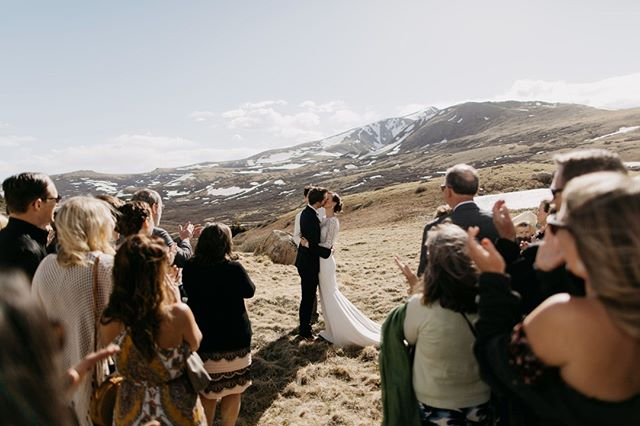 Those forever feelings.⠀ .⠀ Lynse & Brian - Guanella Pass, CO⠀ .⠀ #destinationwedding #rockymountainwedding #firstkiss #elopement