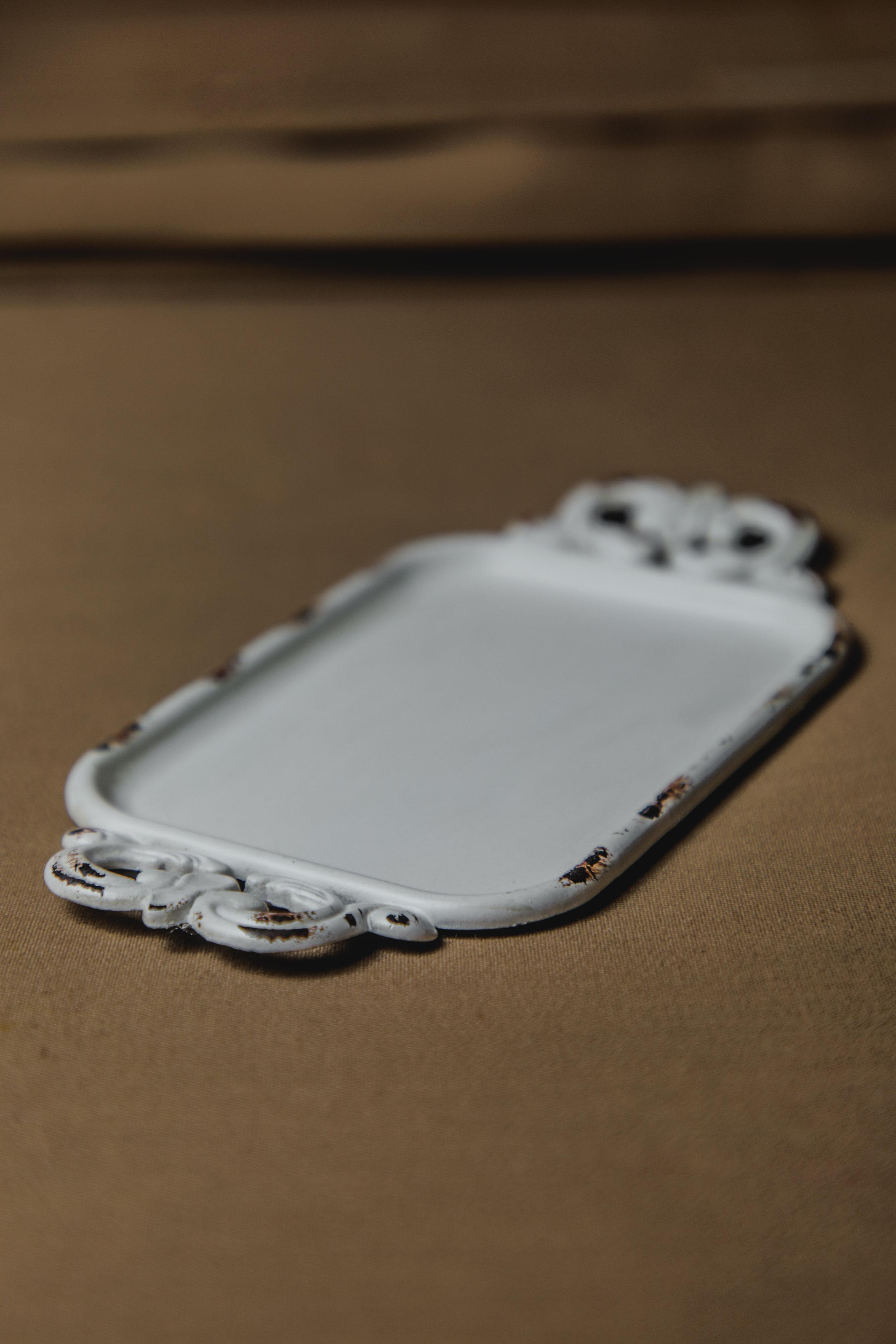 $10 | White Ornate Ring Dish