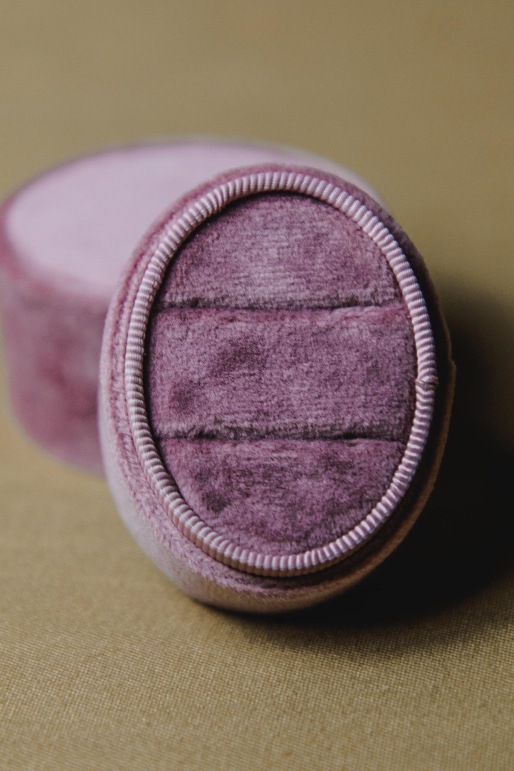 $15 | Dusty Rose Velvet Oval Ring Box