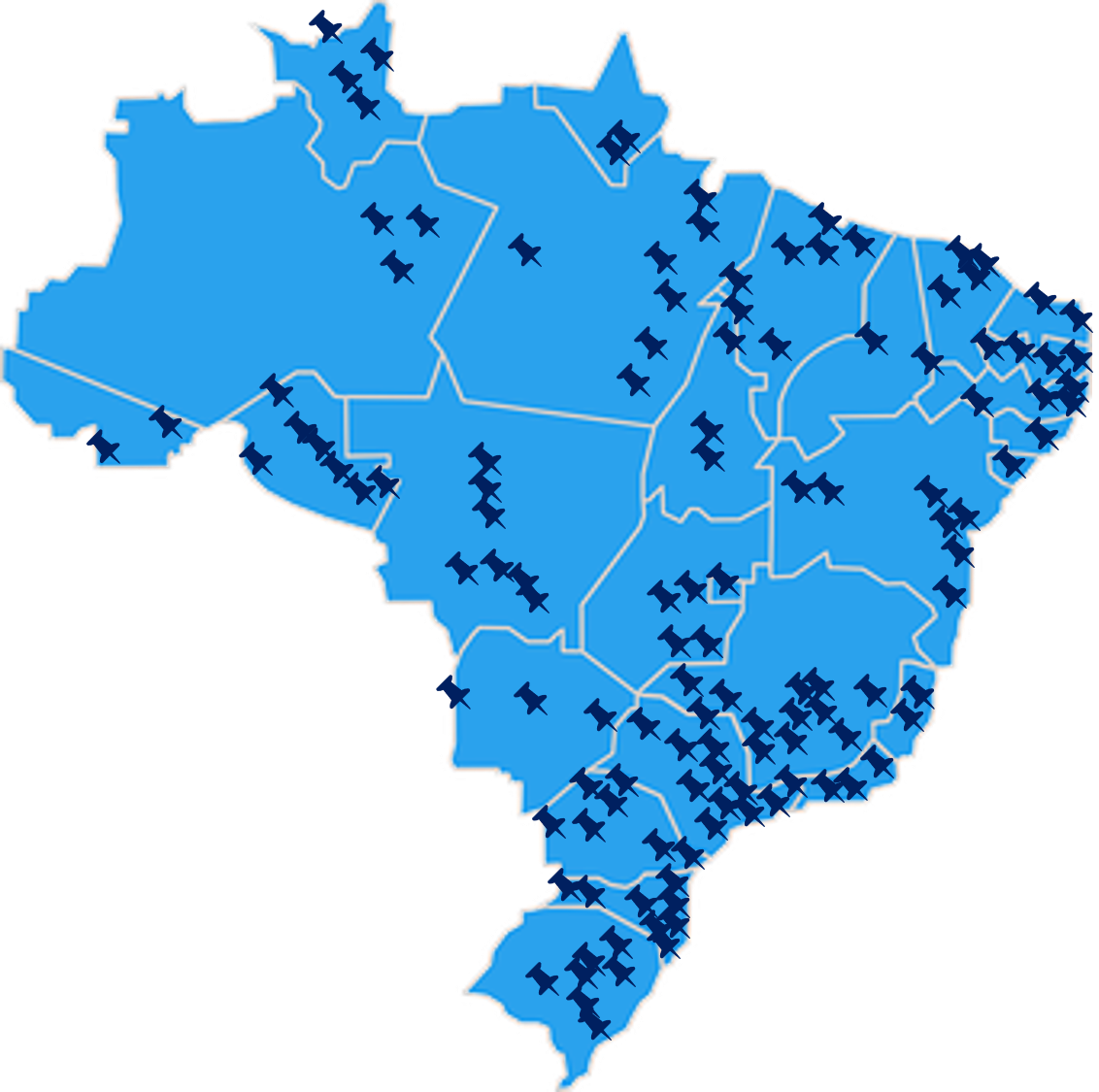 Our differential - Throughout its existence, Macrologística has already performed more than one hundred strategic consulting projects involving meetings, technical visits and personal interviews conducted in all 27 Brazilian states, in addition to other Mercosur countries, knowing in depth the particularities of infrastructure and of the Brazilian productive centers.
