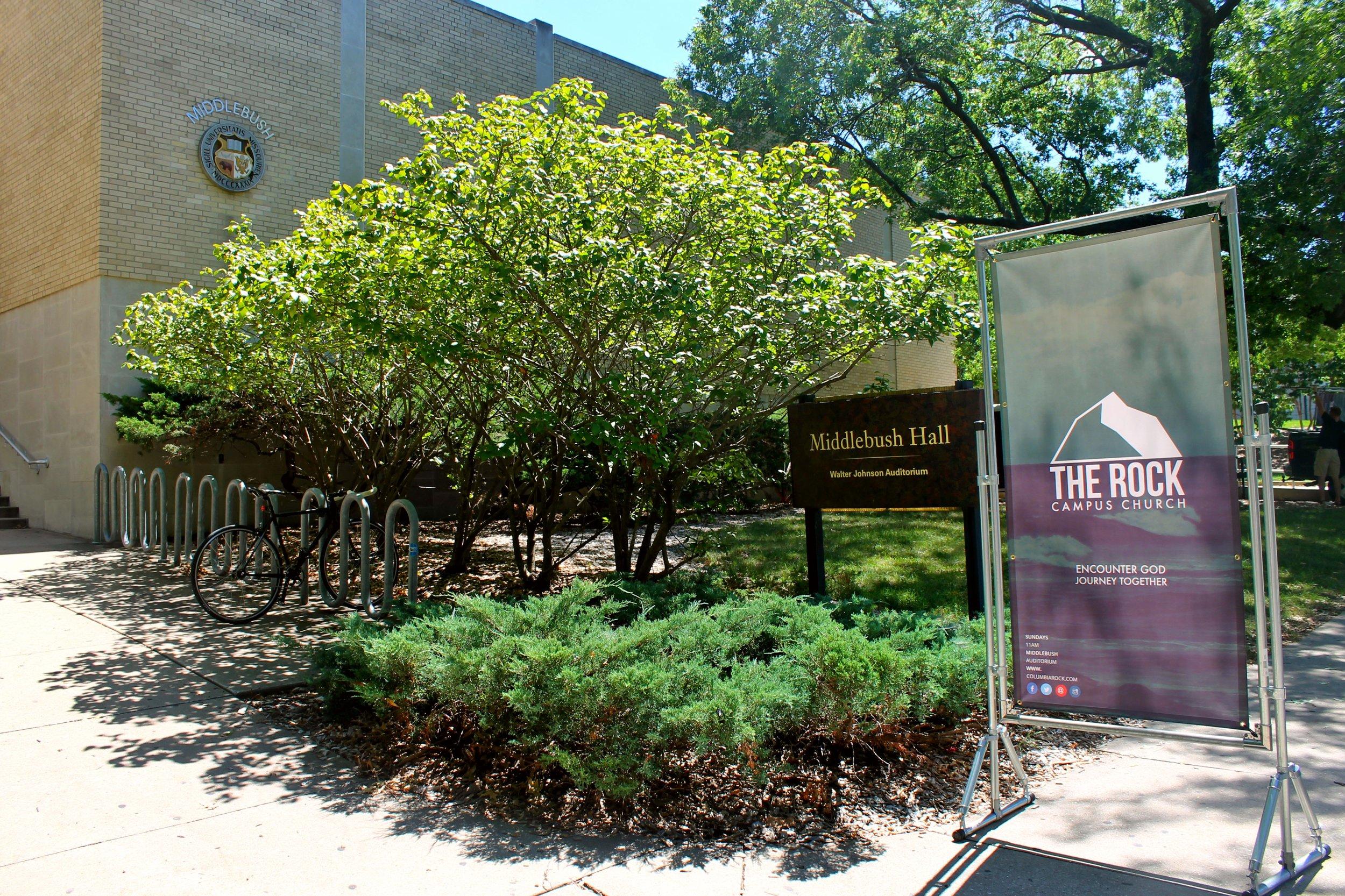 This is where we gather on Sundays - Middlebush Auditorium