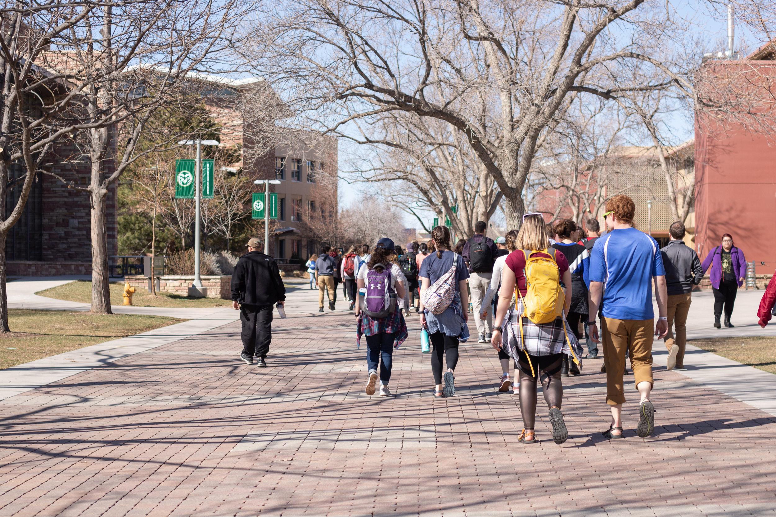 Our students getting a tour of Colorado State University from our church plant team