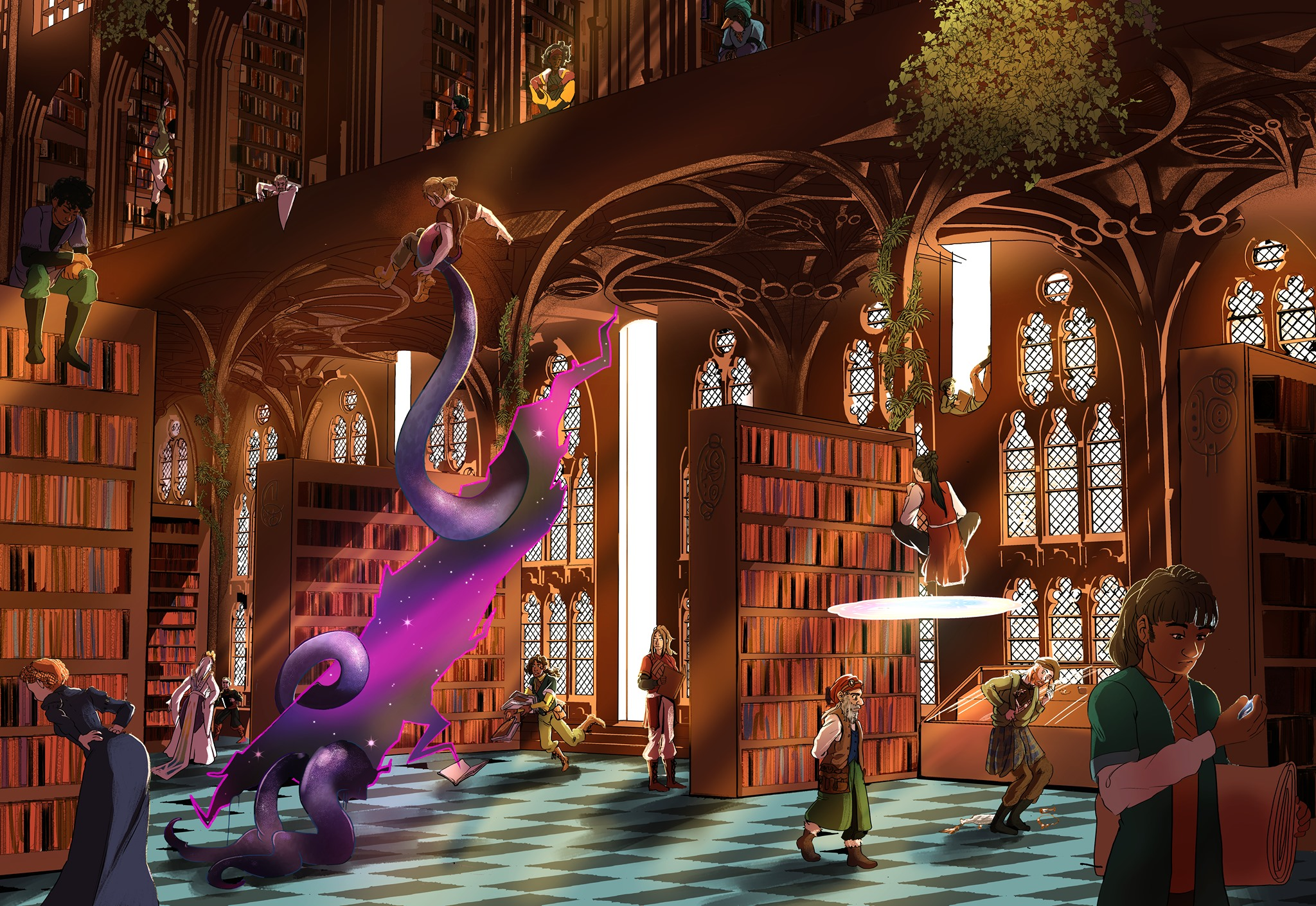 The Royal College Library in Kingdom of Seasons (Artwork by:  Kanna Clausen )