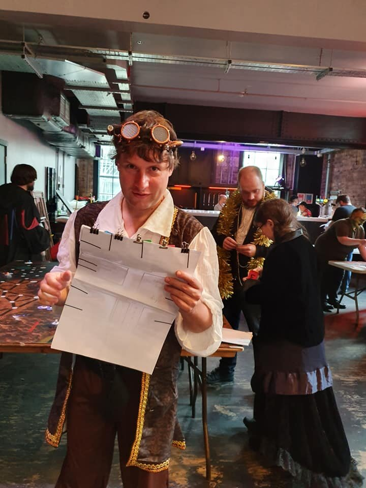 Character sheets in a megagame! (Photo by: Rob Grayston)