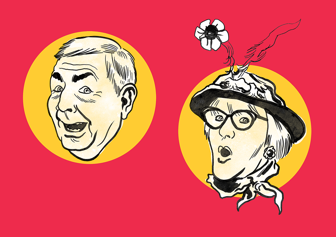 Legendary Black Country comedians Tommy Mundon and Dolly Allen
