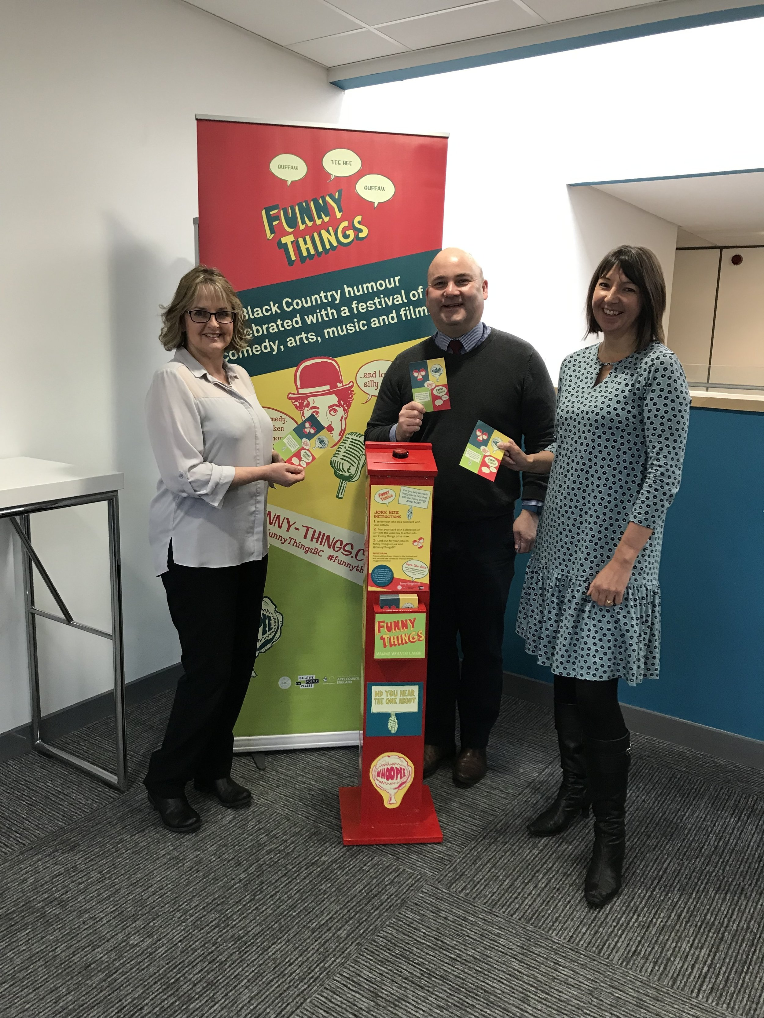 The Joke Box makes its first visit to the Black Country Chamber of Commerce