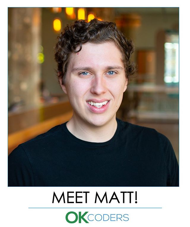 Instructor introduction time!! Meet @matopher. Former OK Coders student and now OK Coders instructor for HTML/CSS/Bootstrap. By day he's a marketer/developer at @tailwindapp. Check him out at mattwoods.io!