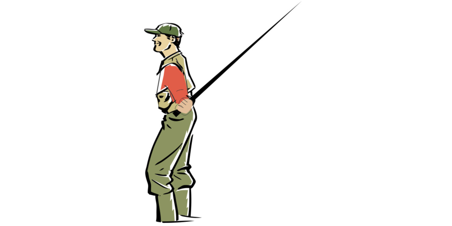 Keiryu Rod Co. Lob Cast Back Position Illustration