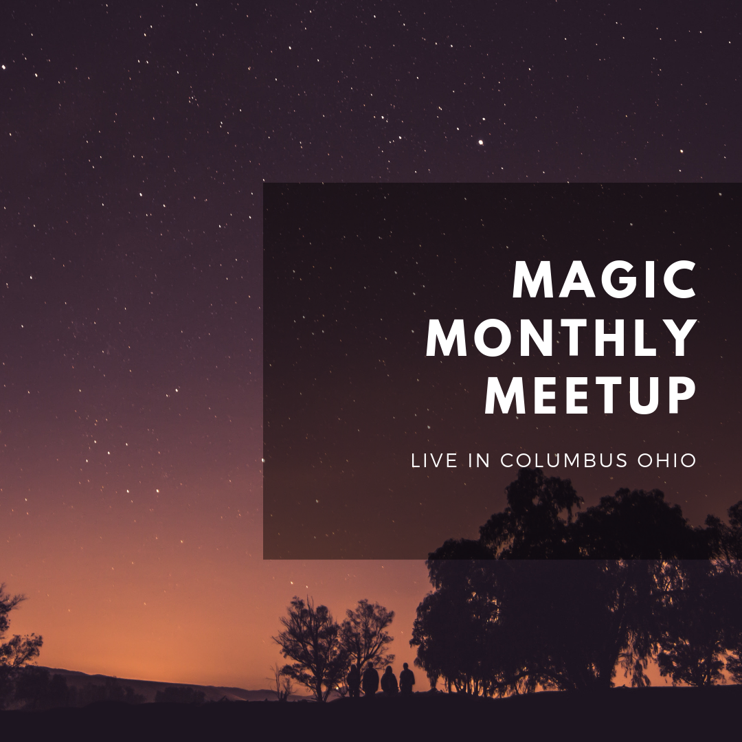 Magic monthly meetup event with jennifer davoust and megan adair