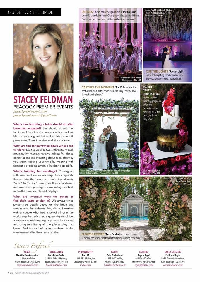 South Florida Luxury Guide Bride Guide Peacock Premier Events