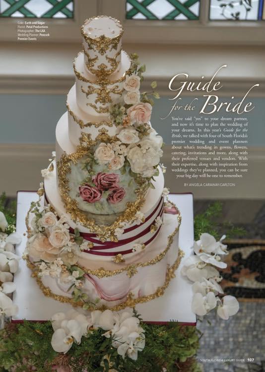 South Florida Luxury Guide Bride Peacock Premier Events