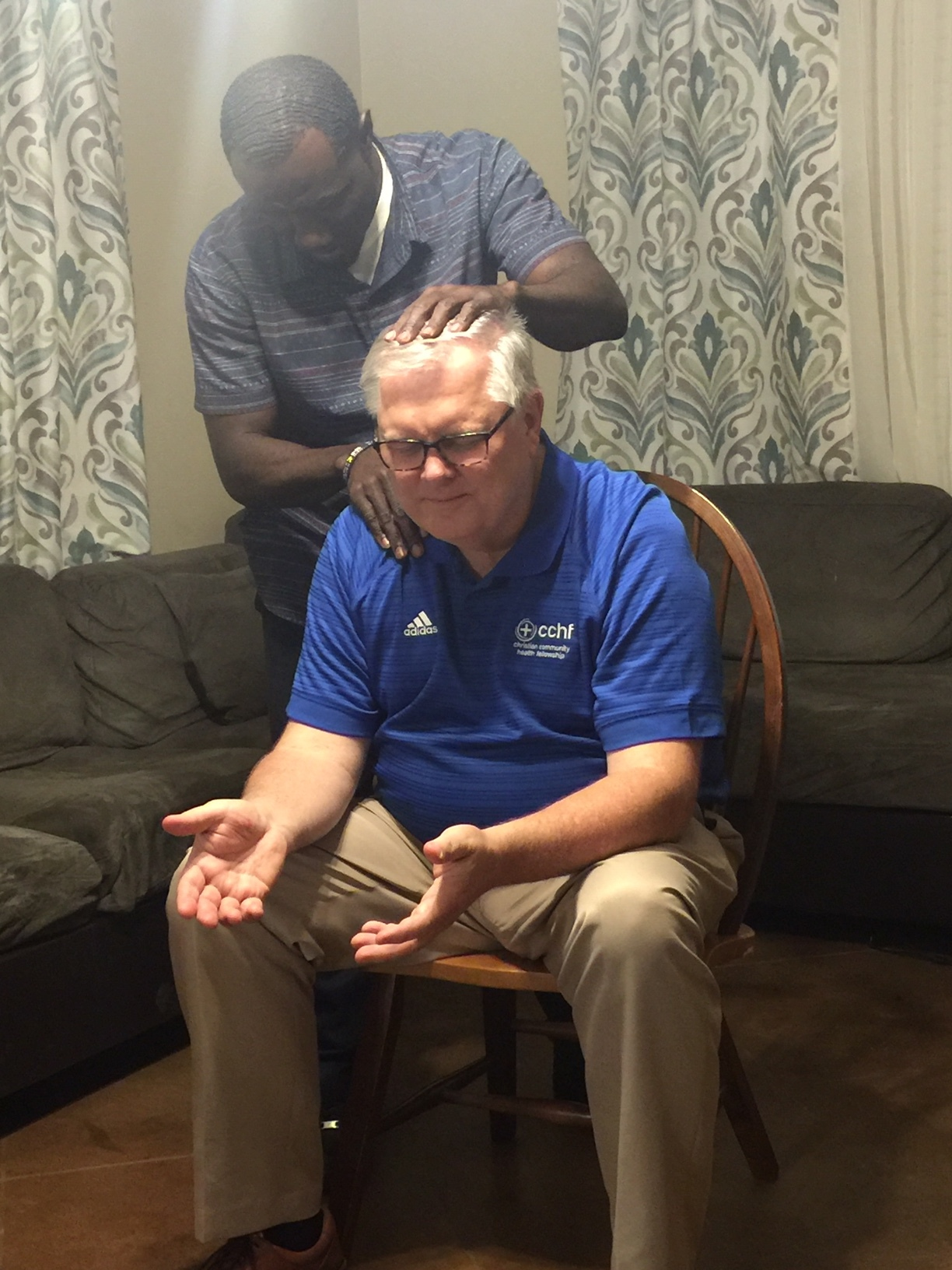 Johnnie Doe, a good friend from Liberia, held a prayer meeting for me in his home where a group of neighbors and African brothers met to pray for me. Each person laid hands on me and prayed for healing.