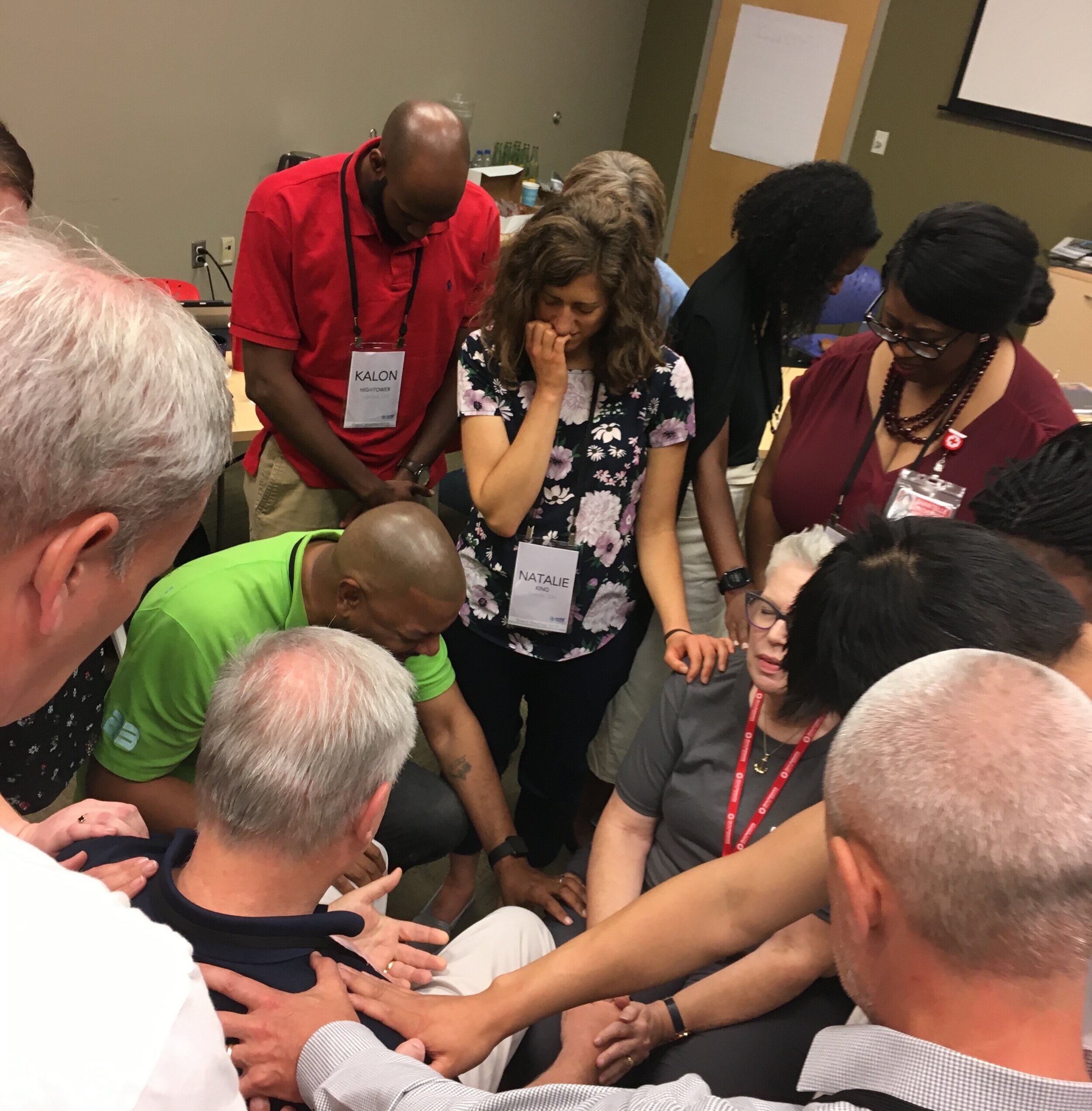 CCHF Board praying for Vic and me.