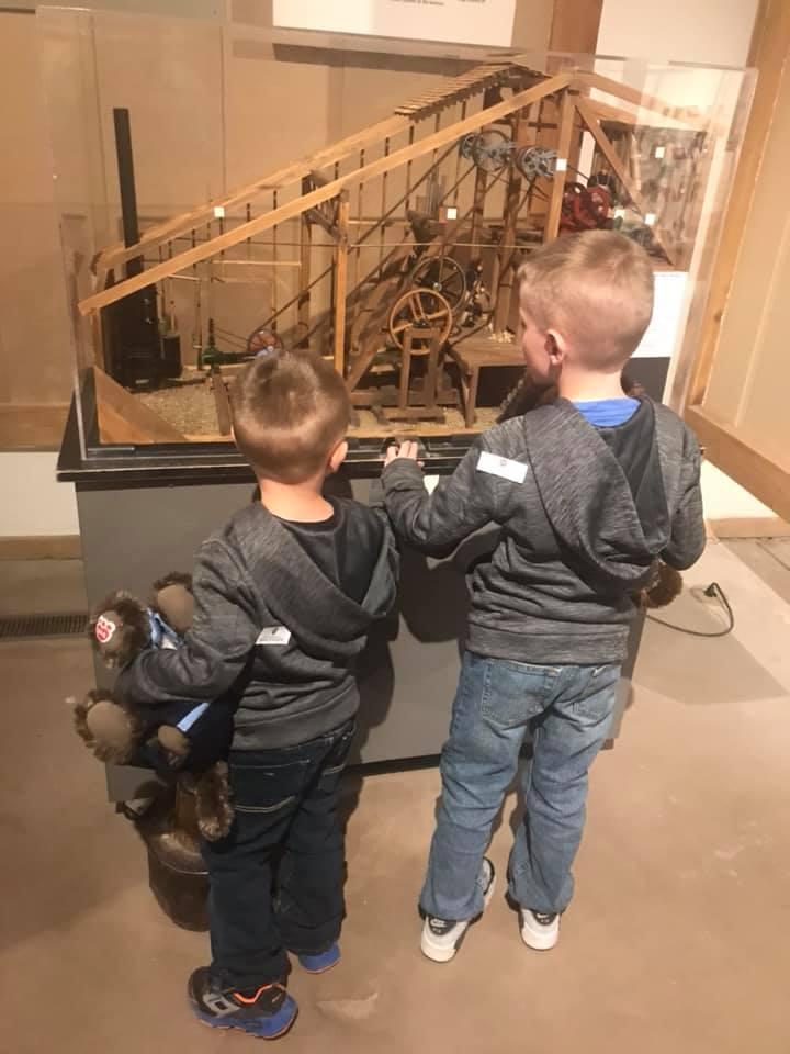 Kids at Mini Stamp Mill Display.jpg