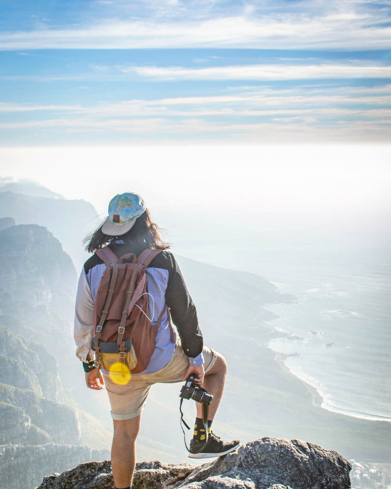 Taking in the view from the top of South Africa's Table Mountain. Photo taken by Melanie Van Zyl.