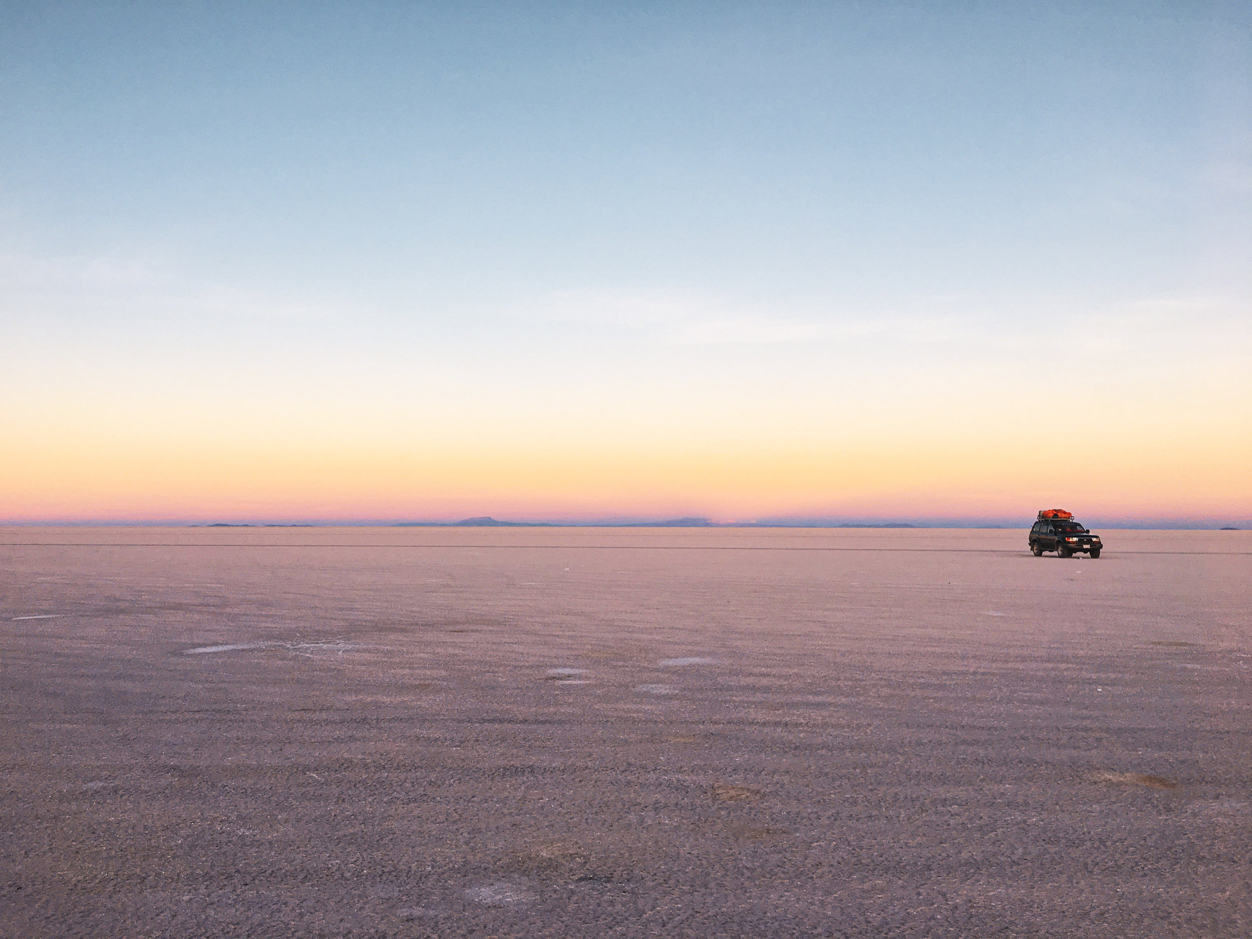 The Salar de Uyuni of Bolivia. One of the most magnificent places I've ever seen and one of the highlights of my first solo backpacking trip to South America.