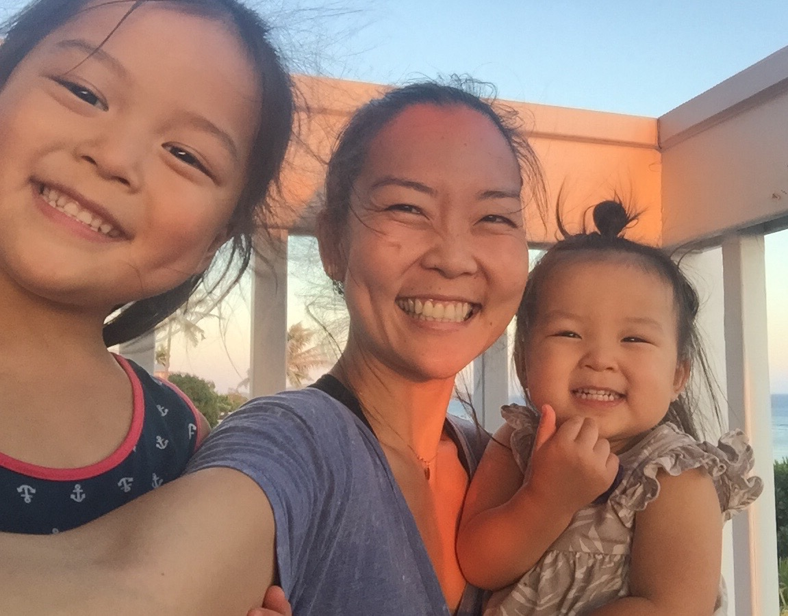 Seisha and her daughters in East Palo Alto, CA.