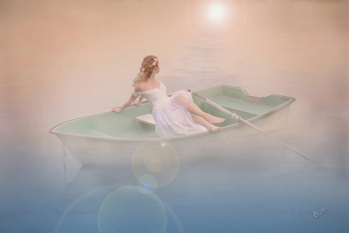 RK Green Studios Bride in Fog in Boat on Lake Slovakia 4.jpg