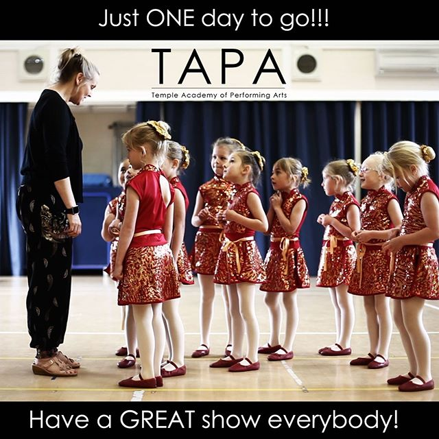 Nearly there! See you @stagsevenoaks later today for dress run. #bromley #dance #showtime #sing #act #perform