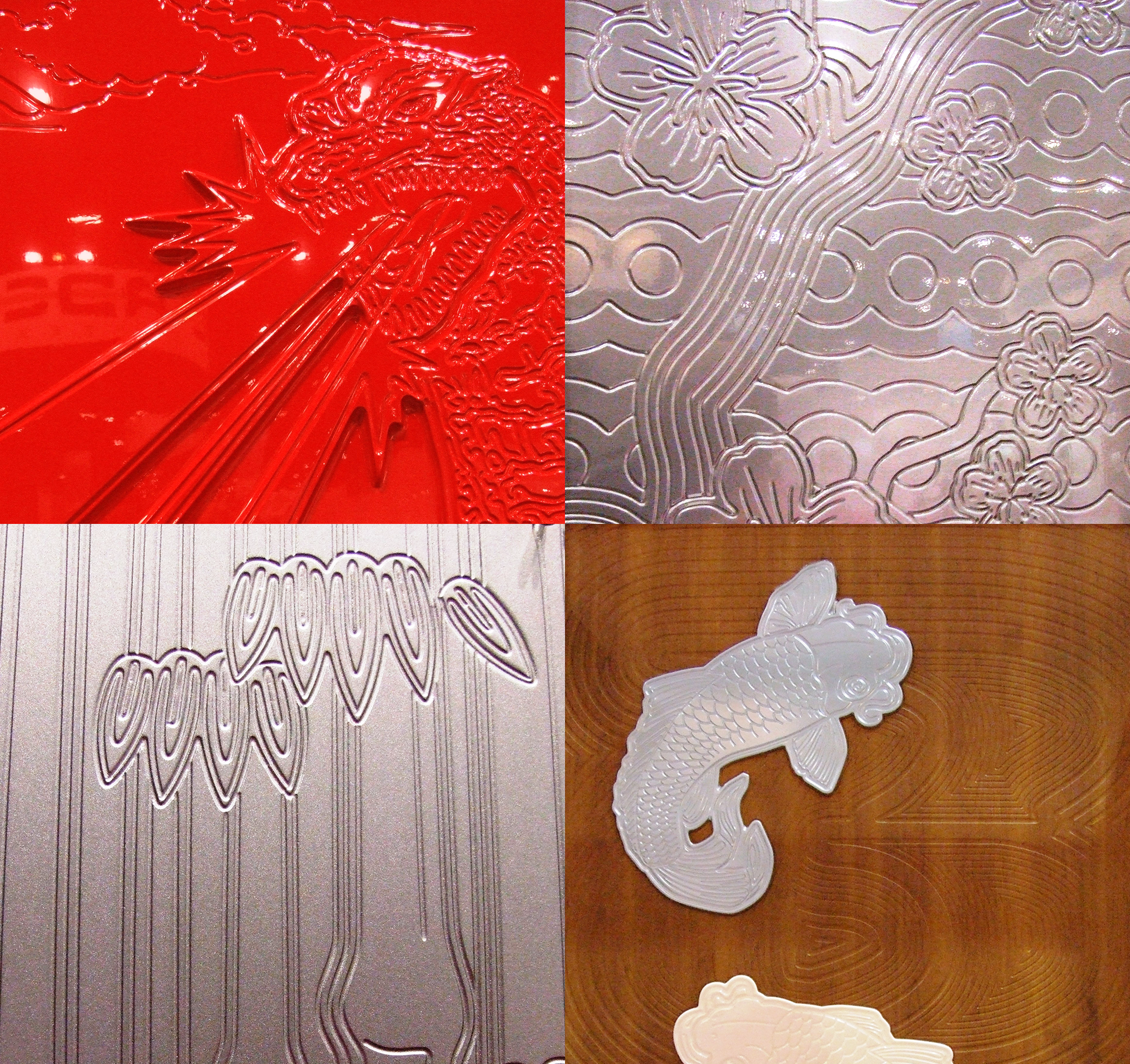 CNC Router Etched Design with 3D Laminate - Panels, Signs, Design
