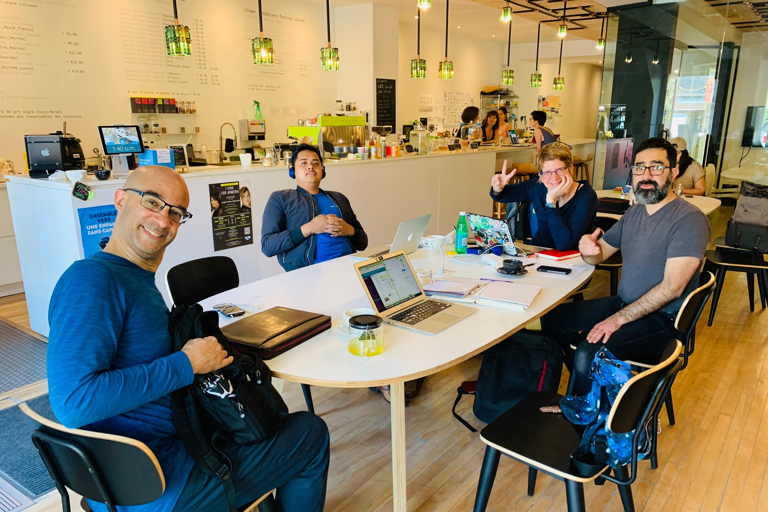 buy a cup of coffee for a coder - We host daily coffee and code sessions. On a typical week we host around 30 coders from all walks of life. You could help us eliminate the economic barrier of coming to a coffee shop to code by buying a coffee for a coder.