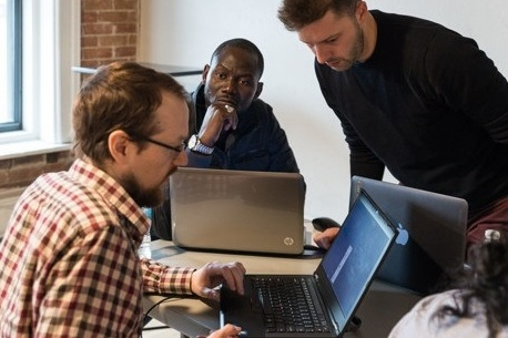 transition into a new job - Join our 4-week employment training incubator, LAB4 for resume review and to practice for technical interviews with professional programmers.